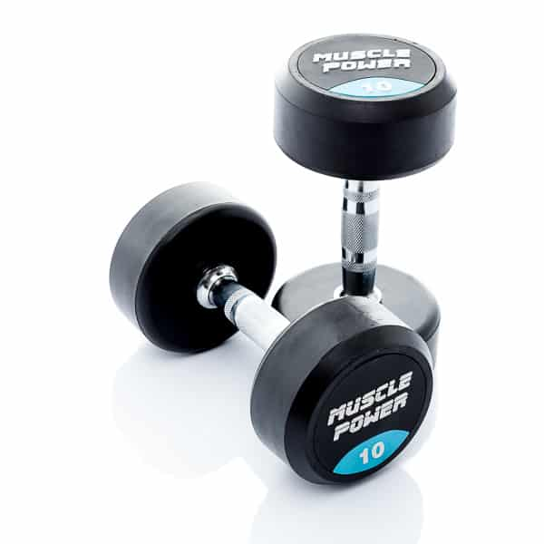 Dumbbell rubber rond 10kg Muscle power