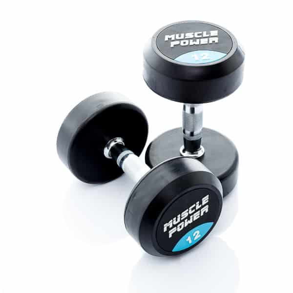 Dumbbell rubber rond 12kg Muscle power rond
