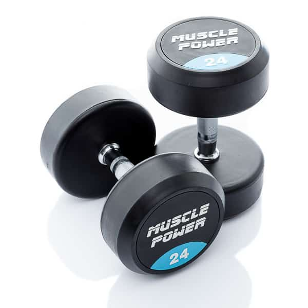 Dumbbell rubber rond 24kg Muscle power