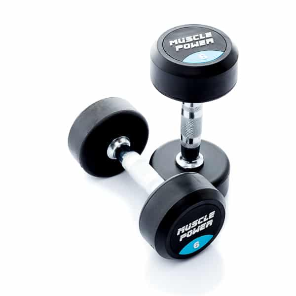 Dumbbell rubber rond 6kg Muscle power