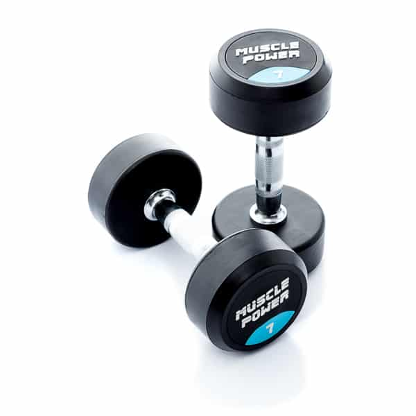 Dumbbell rubber rond 7kg Muscle power