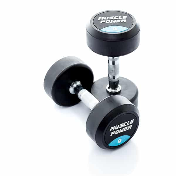 Dumbbell rubber rond 9kg Muscle power