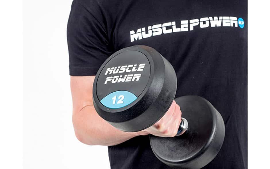 dumbbell gewicht rubber rond Muscle Power