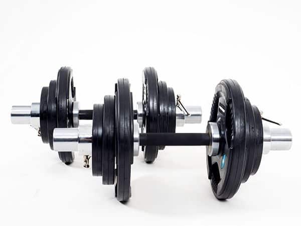 twee-dumbell-bars-gewicht