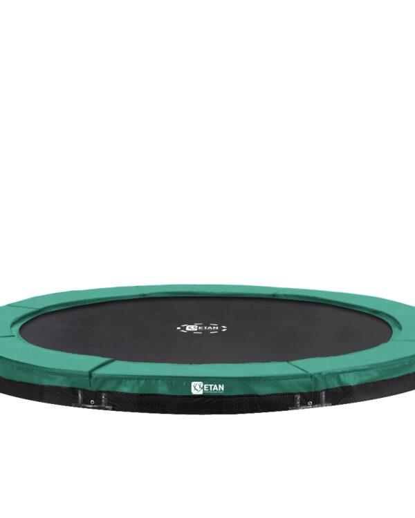 Etan Premium Gold Inground trampoline 366 cm / 12ft groen