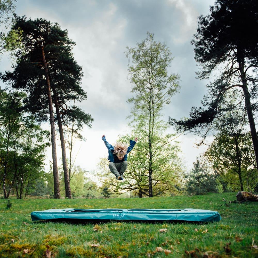Etan Premium Gold Inground trampoline met net 366 cm / 12ft groen3