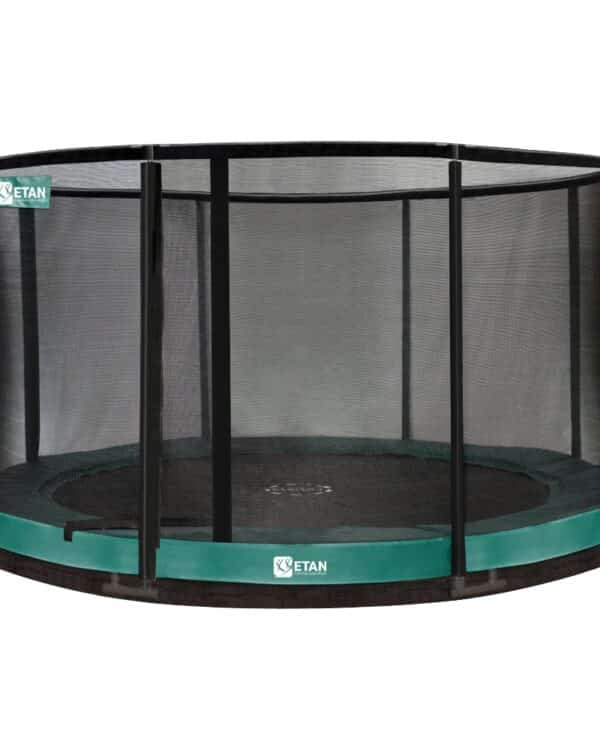 Etan Premium Gold Inground trampoline met net 427 cm groen