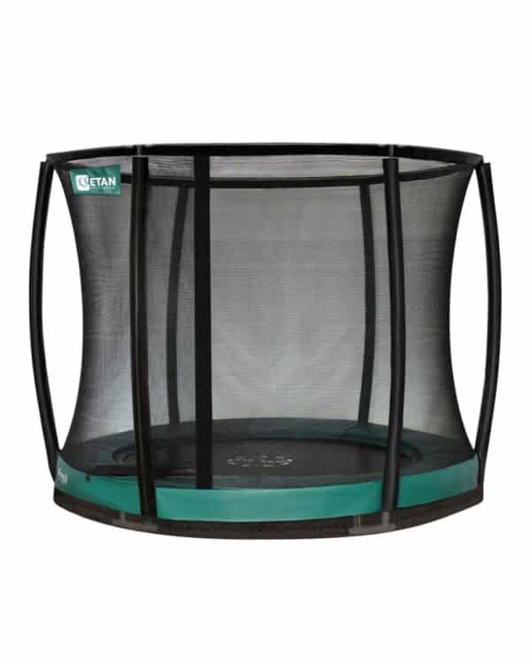 Etan Premium Gold Inground trampoline met net deluxe 244 cm / 08ft groen