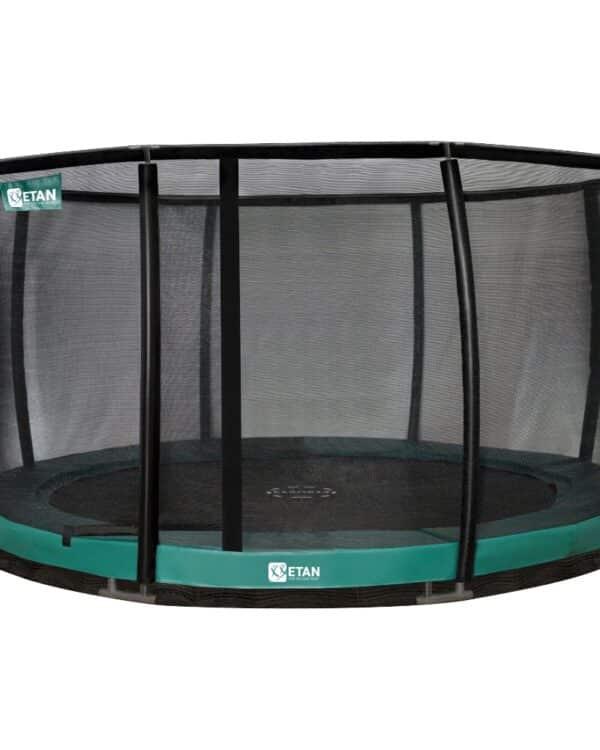 Etan Premium Gold Inground trampoline met net deluxe 366 cm / 12ft groen