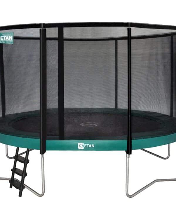Etan Premium Gold trampoline met net 366 cm /12ft groen