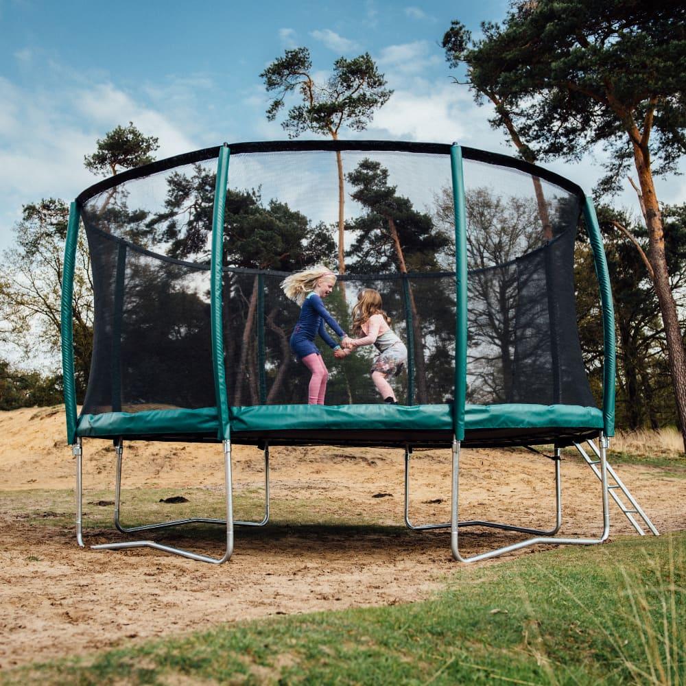 Etan Premium Gold trampoline met net deluxe 305 cm / 10ft groen3