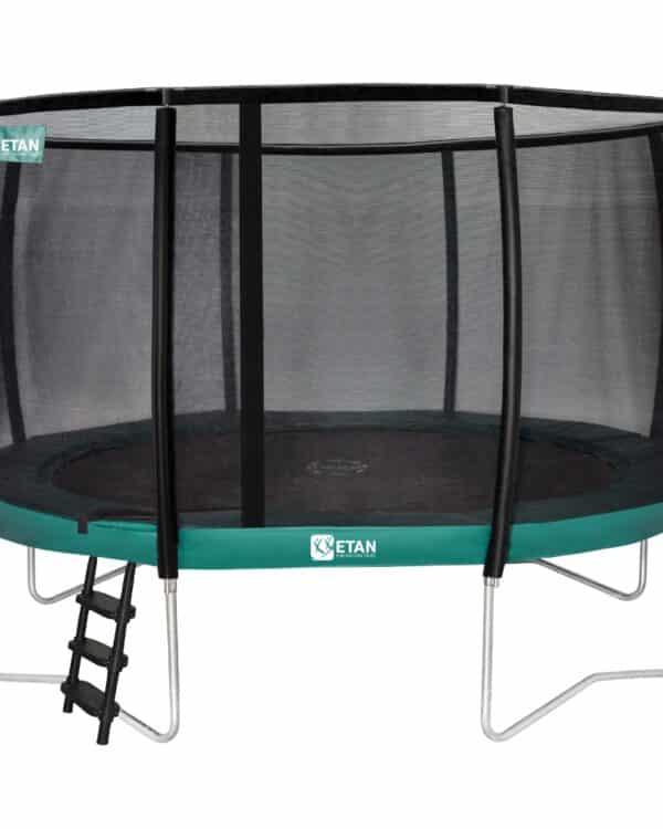 Etan Premium Gold trampoline met net deluxe 366 cm / 12ft groen
