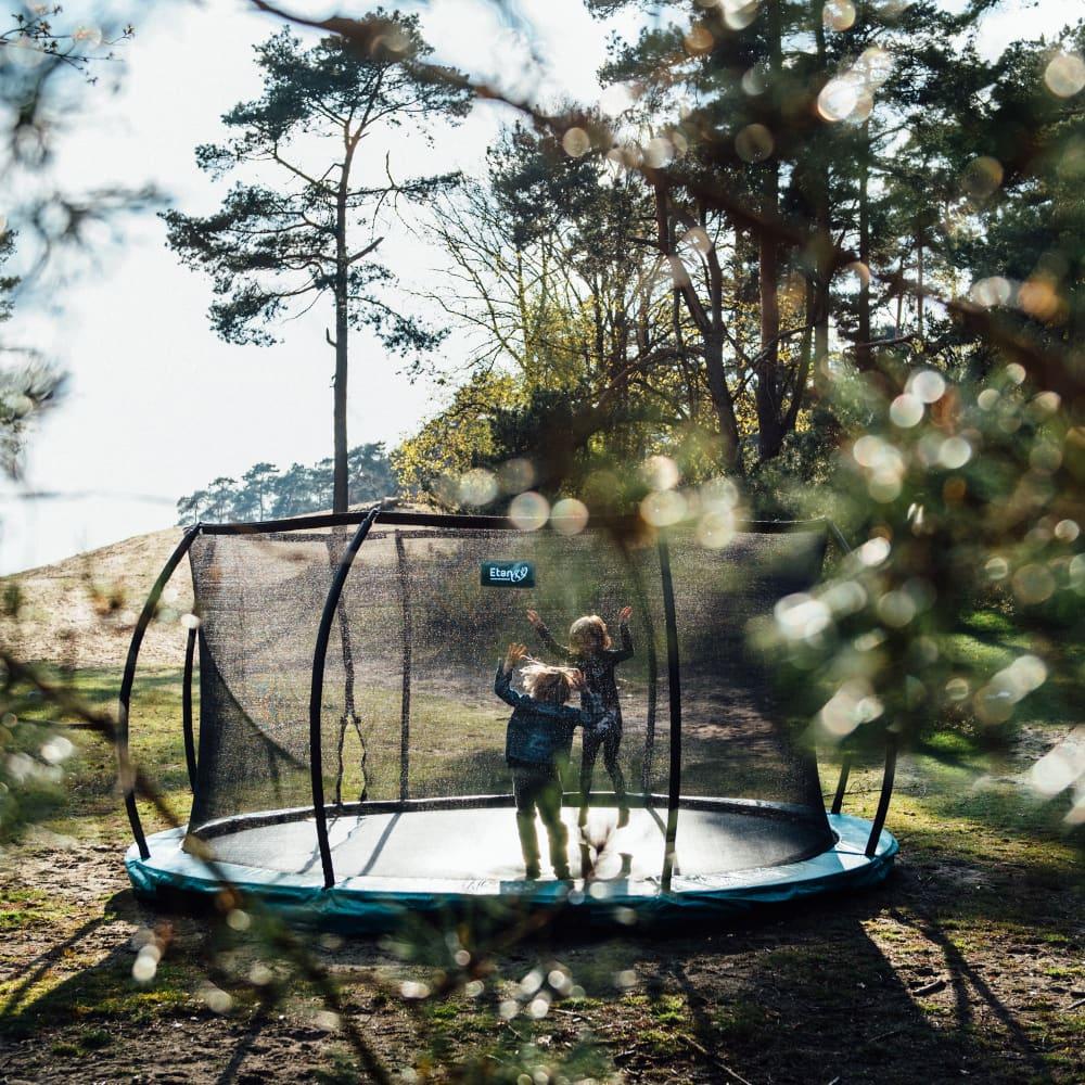 Hi-Flyer 1075 Combi Inground trampoline 310x232 cm groen3