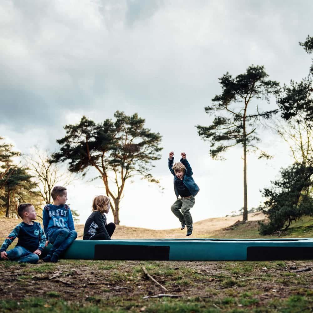 HiFlyer 0965 Inground trampoline 281x201 cm groen3