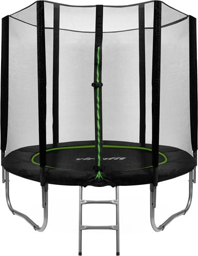 virtufit-trampoline-met-veiligheidsnet-zwart-244-cm